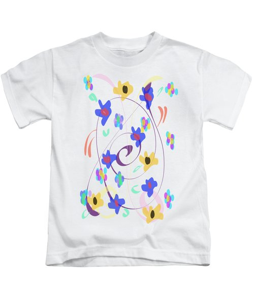 Abstract Garden Nr 7 Naif Style Kids T-Shirt