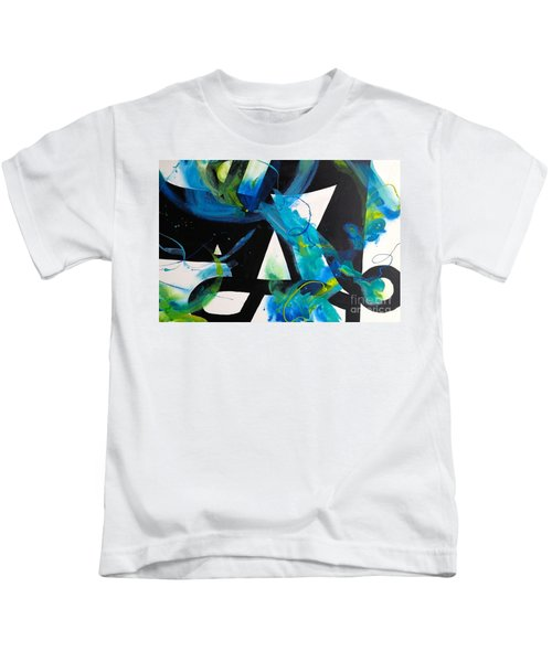 Study In Blue I Kids T-Shirt