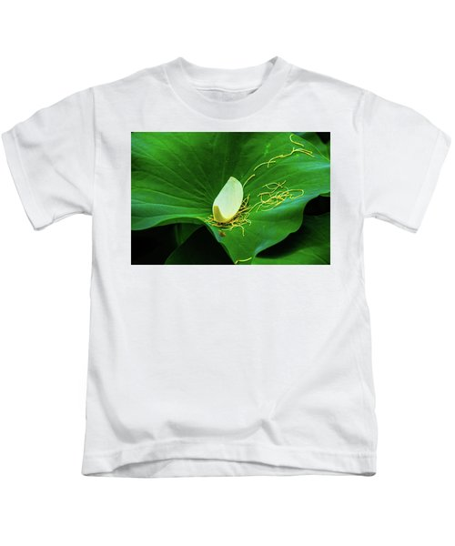 Abstract Leaves Of Green And Yellow Kids T-Shirt