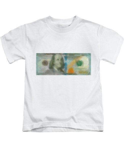 Abstract One Hundred Us Dollar Bill  Kids T-Shirt