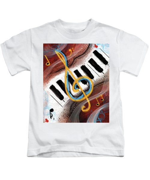 Abstract Piano Concert Kids T-Shirt