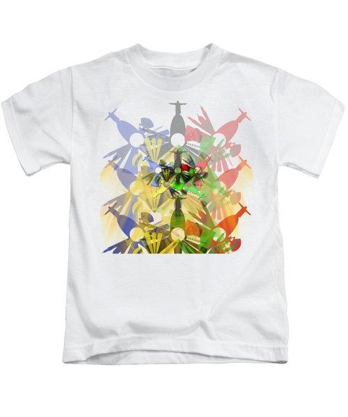 Abstract Rio De Janeiro Kids T-Shirt