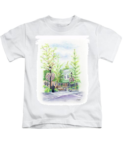 Across The Plaza Kids T-Shirt