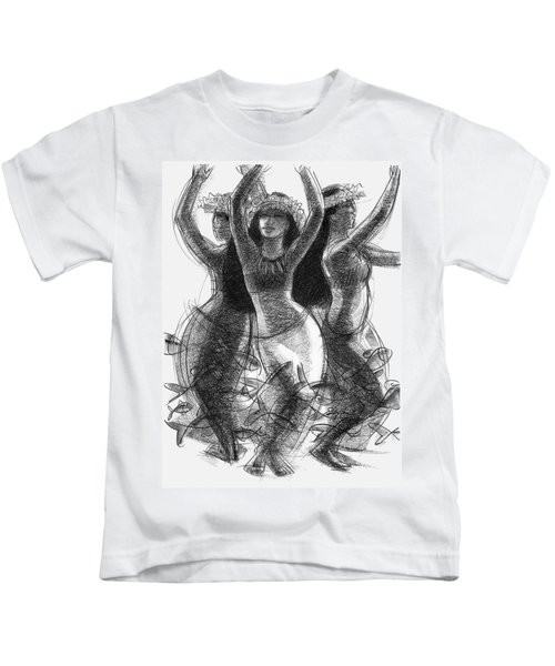 Action Song Dancers With Fish Pareu Kids T-Shirt
