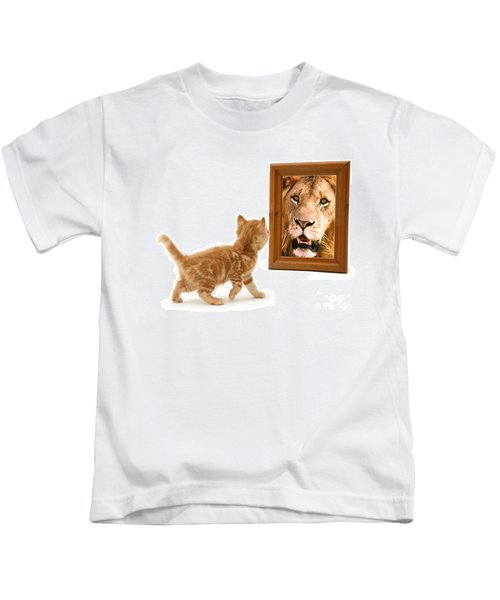 Admiring The Lion Within Kids T-Shirt