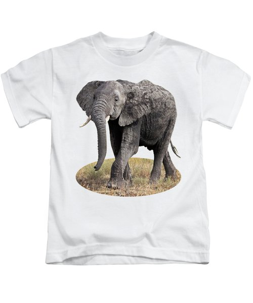 African Elephant Happy And Free Kids T-Shirt