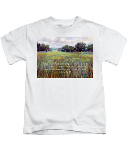 Afternoon Serenity With Bible Verse Kids T-Shirt