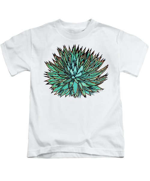 Agave - Spikey Blue With Orange Edges Kids T-Shirt
