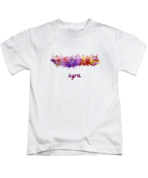 Agra Skyline In Watercolor Kids T-Shirt
