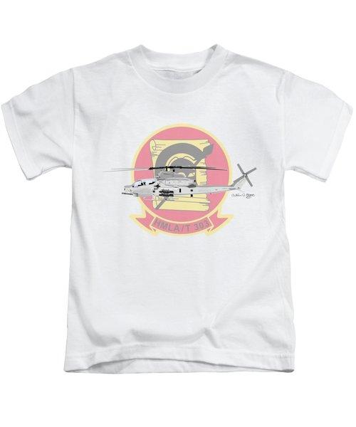Ah-1z Viper Kids T-Shirt by Arthur Eggers