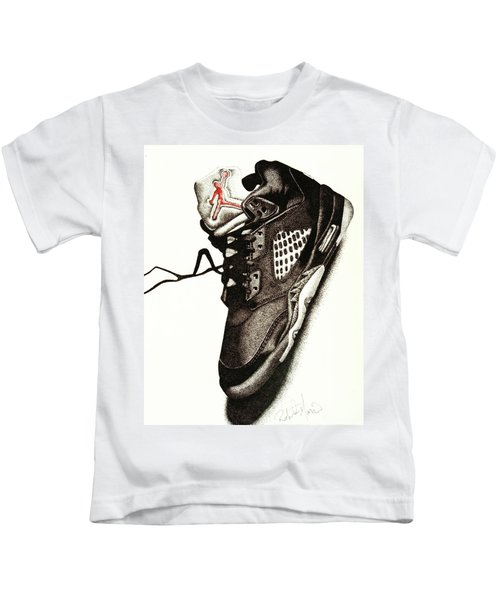 Air Jordan Kids T-Shirt by Robert Morin