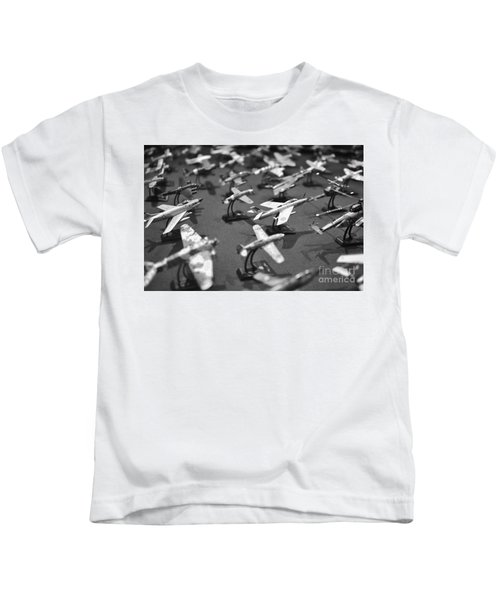 Airplane Collection - Black And White Kids T-Shirt