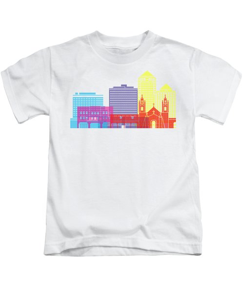 Albuquerque_v2 Skyline Pop Kids T-Shirt