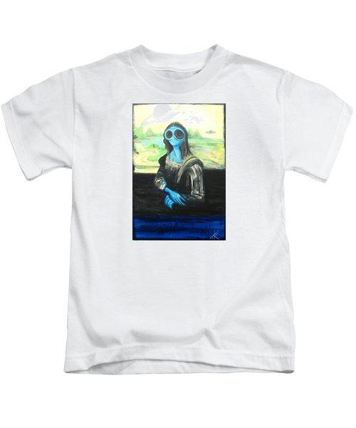 alien Mona Lisa Kids T-Shirt