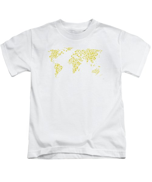 All The World Plays Tennis Kids T-Shirt by Marlene Watson
