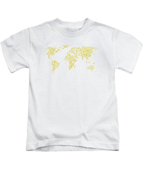 All The World Plays Tennis Kids T-Shirt