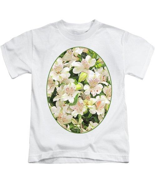 Alluring Alstroemeria - Peruvian Lilies Kids T-Shirt