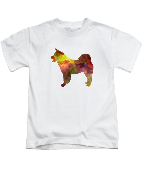American Akita In Watercolor Kids T-Shirt