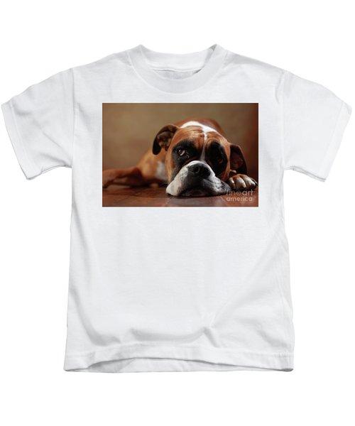 American Boxer Dog Kids T-Shirt