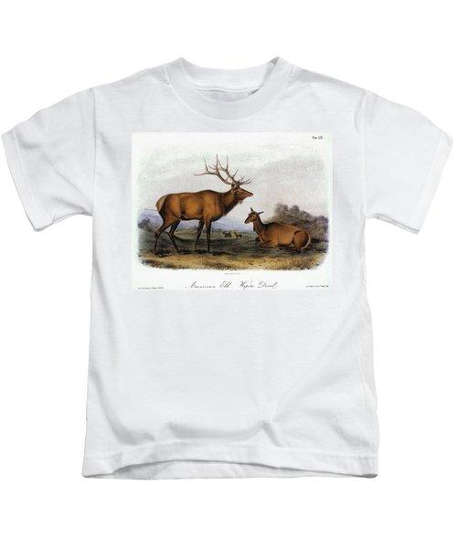 American Elk, 1846 Kids T-Shirt