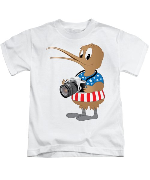 American Kiwi Photo Kids T-Shirt
