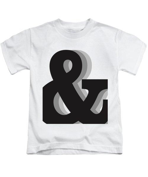 Ampersand - And Symbol 1 - Minimalist Print Kids T-Shirt