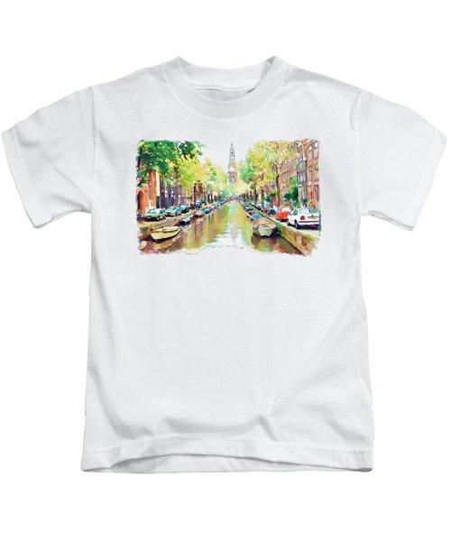 Amsterdam Canal 2 Kids T-Shirt