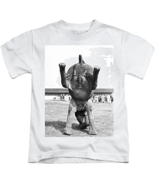 An Elephant Headstand Kids T-Shirt