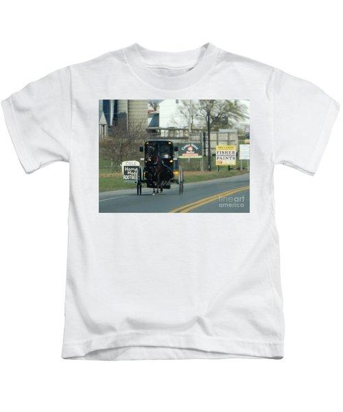 An Evening Ride Kids T-Shirt