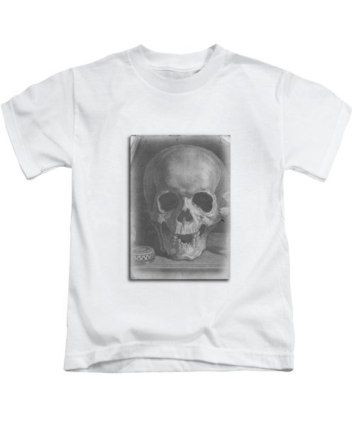 Kids T-Shirt featuring the digital art Ancient Skull Tee by Edward Fielding