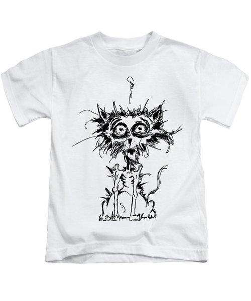 Angst Cat Kids T-Shirt