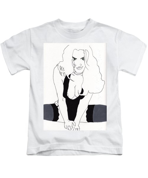 Anna-black Stockings Kids T-Shirt