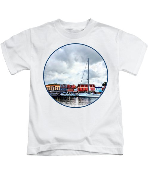 Annapolis Md - City Dock Kids T-Shirt