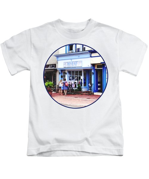 Annapolis Md - Shopping On Main Street Kids T-Shirt