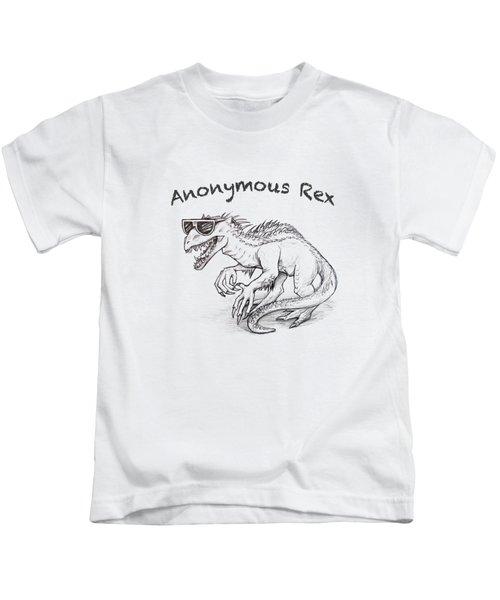 Anonymous Rex T-shirt Kids T-Shirt by Aaron Spong