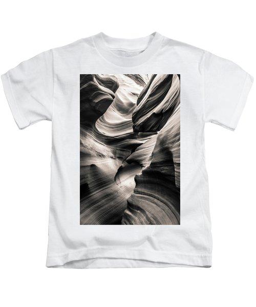 Antelope Canyon Bw Kids T-Shirt