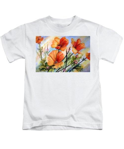 Antelope Valley Poppy Fields Kids T-Shirt