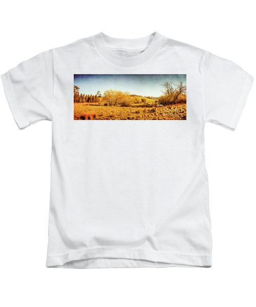 Antique Weathered Countryside Kids T-Shirt
