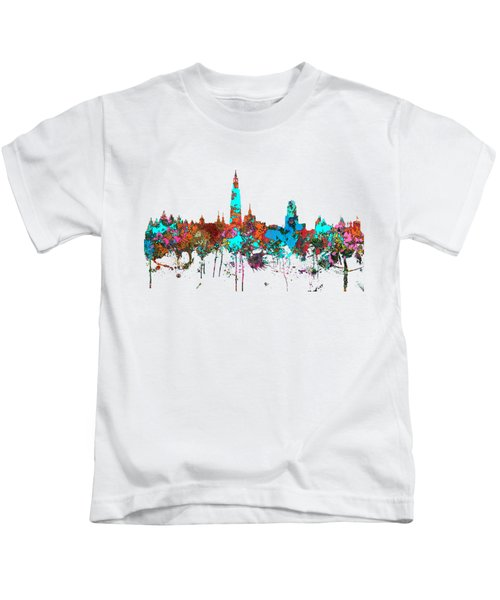 Antwerp Belgium Skyline Kids T-Shirt