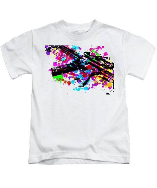 Ar15 Pop Art Kids T-Shirt