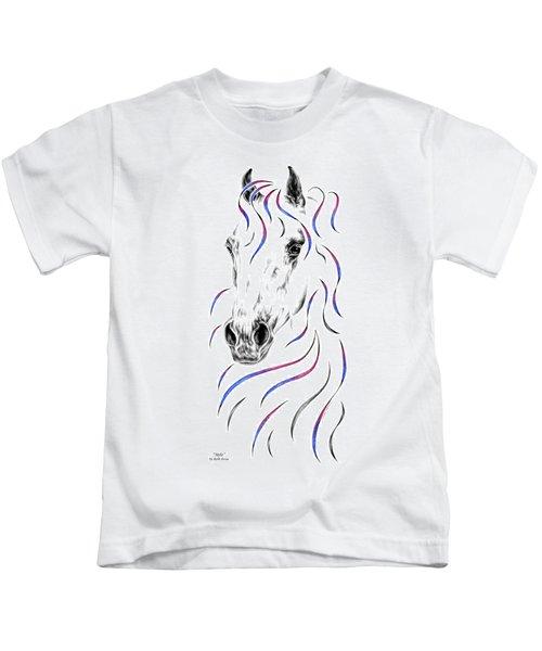 Arabian Horse Style Kids T-Shirt