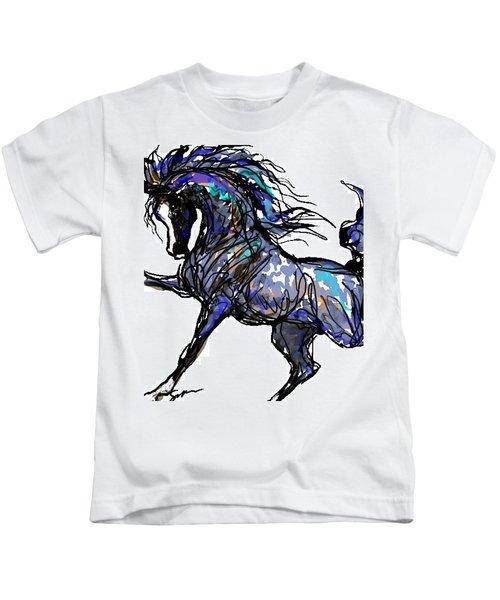 Arabian In Blue Kids T-Shirt