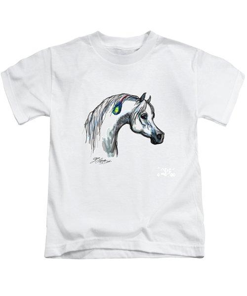 Arabian Peacock Feather Kids T-Shirt