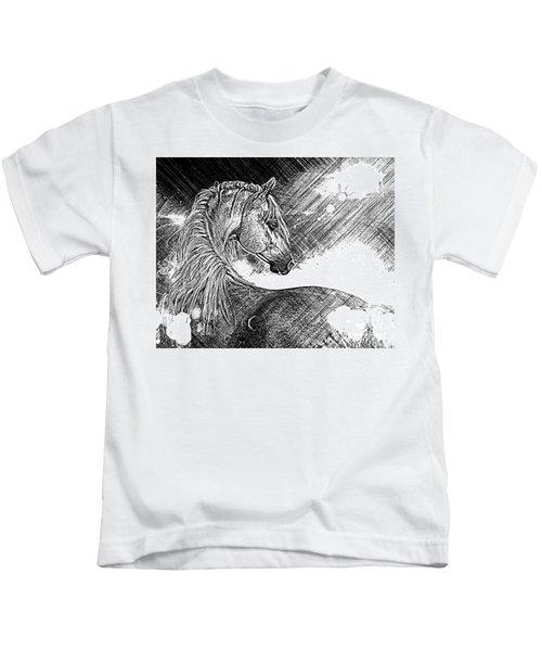 Arabian Sunrise Sketch Kids T-Shirt