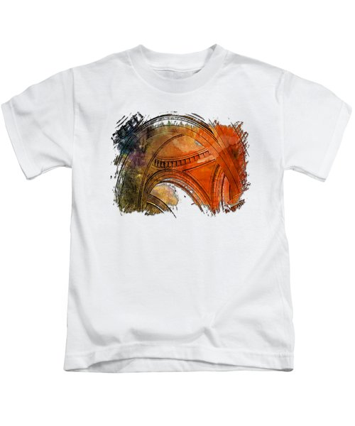 Arches Abound Earthy Rainbow 3 Dimensional Kids T-Shirt
