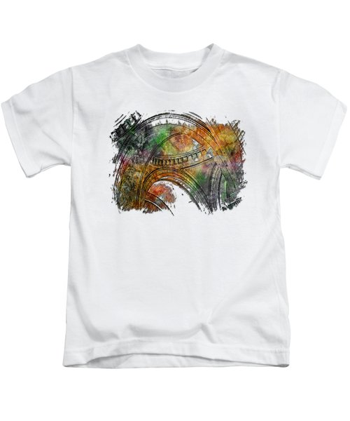 Arches Abound Muted Rainbow 3 Dimensional Kids T-Shirt