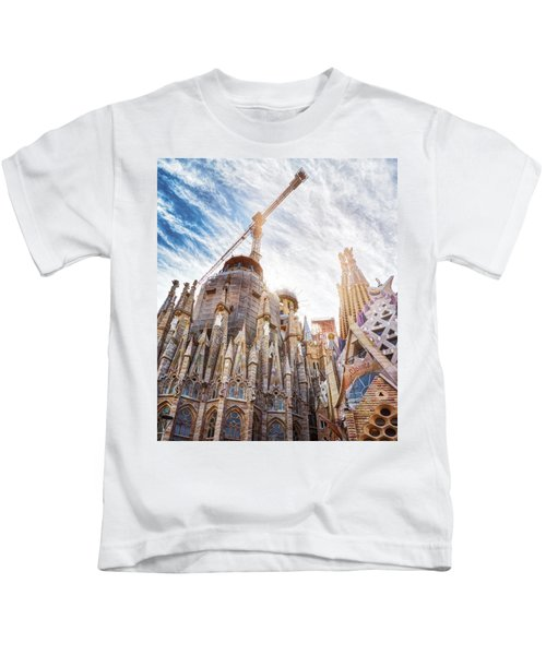 Architectural Details Of The Sagrada Familia In Barcelona Kids T-Shirt