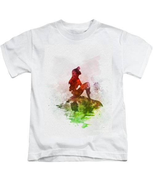 Ariel On The Rock Kids T-Shirt