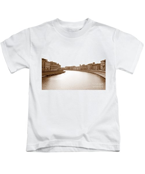 Arno River In Pisa Kids T-Shirt