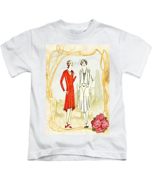Art Deco Fashion Girls Kids T-Shirt